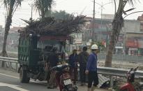 Huyện Vĩnh Bảo:  Đồng loạt ra quân giải tỏa trật tự đường hè tại tuyến đường cầu Lạng Am- Nhân Mục