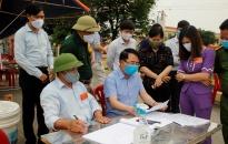 Phó Chủ tịch UBND TP Lê Khắc Nam kiểm tra công tác phòng, chống dịch COVID-19 tại huyện Tiên Lãng