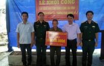Bộ Chỉ huy quân sự thành phố: Khởi công xây dựng nhà tình nghĩa tặng gia đình thương bệnh binh
