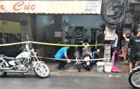 Về vụ nghi nổ súng tại quán trà cúc trên phố Phan Bội Châu sáng nay, 14-6