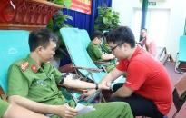 Công an huyện Thủy Nguyên với nghĩa cử hiến máu tình nguyện