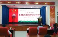 Khai giảng Lớp Trung cấp lý luận chính trị - hành chính  hệ không tập trung, quận Lê Chân, khóa 7