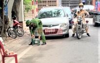 Đội Cảnh sát giao thông - trật tự Công an quận Hồng Bàng: Xử lý nghiêm vi phạm trật tự đường hè