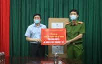 Công an thành phố Hải Phòng: Trao tặng 30.000 khẩu trang y tế, 200 triệu đồng hỗ trợ CATP Đà Nẵng phòng chống dịch Covid - 19
