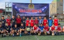 Sôi nổi trận giao lưu bóng đá giữa Phòng Hậu cần - CATP và Công ty TNHH MTV BCA - Thăng Long