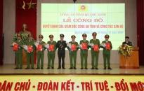 Công an Quảng Ninh điều động công tác 15 đồng chí lãnh đạo cấp phòng, công an cấp huyện
