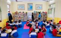 """Chi đoàn Thanh niên Sở Kế hoạch & Đầu tư: Khánh thành """"Thư viện xanh"""" tặng Trường Tiểu học Quang Trung (An Lão)"""