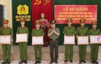 Công an Thái Bình: Bế giảng Lớp huấn luyện chiến sĩ nghĩa vụ Công an nhân dân