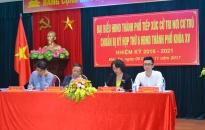 Đồng chí Nguyễn Đình Bích tiếp xúc cử tri nơi cư trú