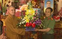 Công an tỉnh Thái Bình chúc mừng Đại lễ Phật đản 2018