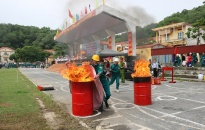Hội thao kỹ thuật chữa cháy, cứu nạn, cứu hộ lực lượng PCCC quần chúng huyện Kiến Thụy năm 2019