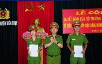 CAH Kiến Thụy Công bố quyết định nâng lương, thăng cấp bậc hàm 23 CBCS