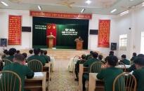 Bộ Chỉ huy Quân sự thành phố: Khai mạc lớp tập huấn công tác Đảng, công tác chính trị