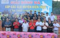 FC Ngũ Đoan đoạt Cúp vô địch giải bóng đá các câu lạc bộ lần thứ 7 huyện Kiến Thụy năm 2019