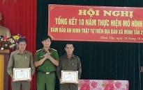 Biểu dương 4 tập thể, cá nhân có thành tích xuất sắc trong thực hiện mô hình chốt bảo vệ ANTT xã Minh Tân
