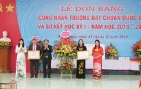 Trường THPT Nguyễn Đức Cảnh được công nhận trường chuẩn quốc gia
