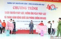 Tập huấn kĩ năng PCCC cho gần 1.000 học sinh Trường THPT Nguyễn Đức Cảnh (Kiến Thụy)