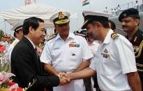 Tàu hải quân Ấn độ thăm Hải Phòng