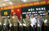 Giao ban công tác xây dựng lực lượng khối ANND quý III/2010