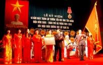 Trường Đinh Tiên Hoàng nhận Huân chương Độc lập hạng ba