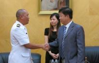 Tàu hải quân Brunei thăm thành phố Hải Phòng