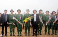 Thành phố tưng bừng lễ giao nhận quân năm 2016
