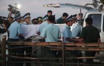 Đón di hài phi công máy bay SU30-MK2 trở về với đất liền