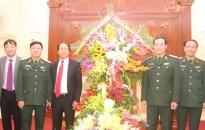 Bí thư Thành ủy Lê Văn Thành chúc tết Bộ tư lệnh Quân khu 3
