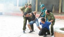 BHQS huyện An Dương hướng dẫn các xã diễn tập chiến đấu phòng thủ