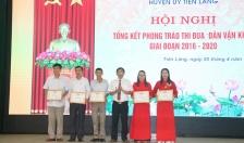 Huyện uỷ Tiên Lãng: Biểu dương, khen thưởng 17 tập thể, cá nhân có thành tích xuất sắc trong phong trào thi đua Dân vận khéo