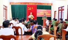Công an huyện Nghĩa Hưng lắng nghe ý kiến nhân dân
