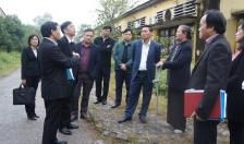 Kiểm tra công tác chuẩn bị khởi công dự án xây dựng Nhà tưởng niệm đồng chí Nguyễn Đức Cảnh