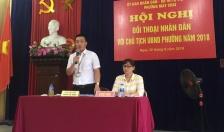 Chủ tịch UBND phường Máy Chai đối thoại với nhân dân