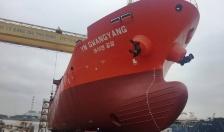 Công ty Đóng tàu Phà Rừng: Hạ thủy tàu chở dầu/ hóa chất số 3