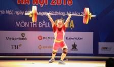 Khai mạc môn Cử tạ Đại hội Thể thao toàn quốc lần thứ 8 năm 2018: Phá hai kỷ lục, Ngô Thị Quyên giành huy chương vàng
