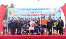 Hội đua thuyền rồng trên biển (quận Đồ Sơn): Đội đua thuyền rồng trên biển phường Hợp Đức đoạt giải nhất