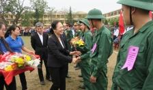 Huyện Kiến Thụy tổ chức lễ giao nhận quân năm 2019