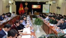 Đồng chí Lê Văn Thành- Bí thư Thành ủy, Chủ tịch HĐND TP làm việc với huyện Tiên Lãng