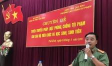 Công an tỉnh Thái Bình: Tuyên truyền pháp luật phòng, chống tội phạm