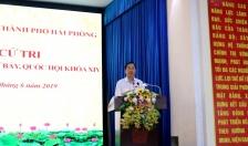 Đoàn ĐBQH tiếp xúc cử tri quận Lê Chân