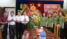 Phó Chủ tịch  UBND TP Lê Khắc Nam thăm, chúc mừng các cơ quan báo chí