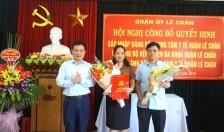 Sáp nhập Đảng bộ Trung tâm y tế quận Lê Chân  và Đảng bộ Bệnh viện đa khoa Lê Chân