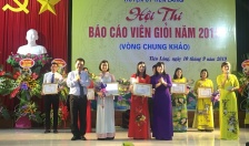 Sôi nổi hội thi báo cáo viên giỏi huyện Tiên Lãng năm 2019