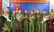 Trung úy Vũ Thanh Tâm giữ chức Bí thư Chi đoàn phòng PC05 - CATP, khóa VI