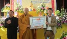 Truy tặng bằng liệt sĩ hòa thượng Thích Thanh Dũng trụ trì chùa Đót Sơn