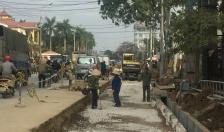 Tiến độ dự án mở rộng đường từ cầu Rế đến cổng UBND huyện An Dương đạt 90%