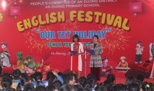 """Trường tiểu học An Dương: Tổ chức Festival tiếng Anh với chủ đề """"Our Tet Holiday"""""""