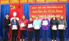 Phường Lam Sơn (quận Lê Chân):  Quan tâm, chăm lo Tết cho người dân có hoàn cảnh khó khăn