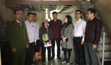 Thăm hỏi gia đình nạn nhân bị hỏa hoạn ở phường Niệm Nghĩa, quận Lê Chân