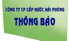 CÔNG TY CP CẤP NƯỚC HẢI PHONG THÔNG BÁO NGÀY 07-2-2020